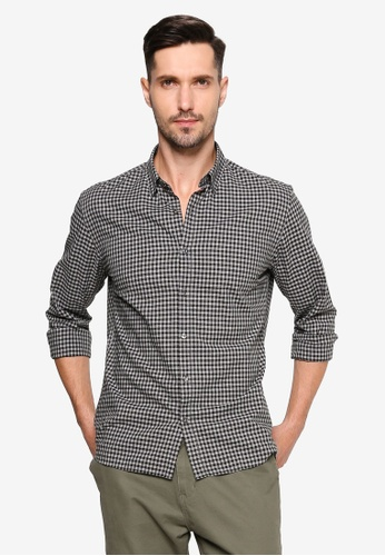 Mango Man grey Slim Fit Gingham Check Shirt 29128AABB9E502GS_1