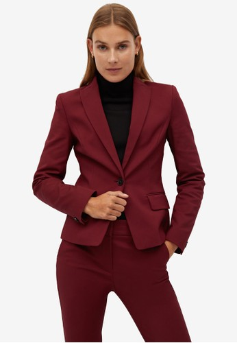 Mango red Structured Suit Blazer F27E8AA2550E3AGS_1