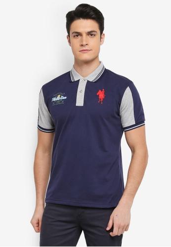 Fidelio 海軍藍色 撞色短袖POLO衫 BD12FAA425B63EGS_1