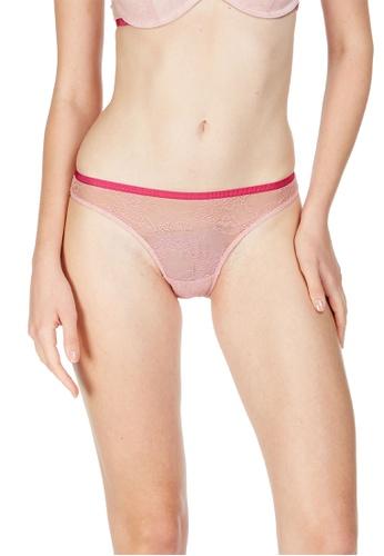 6IXTY8IGHT pink Suzu Solid, Heart Jacquard Mesh Bikini Brief PT10003 D512BUS6D65C69GS_1
