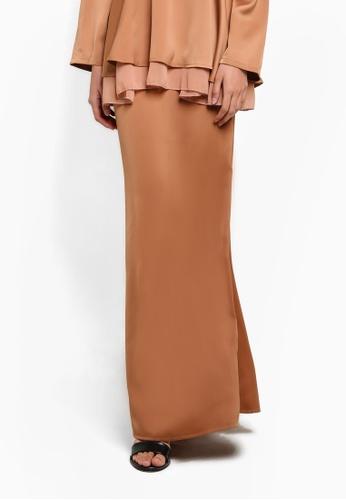 BYN brown Mermaid Style Skirt BY059AA09VLMMY_1