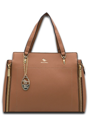Polo Hill brown Polo Hill Ensign Tote Bag 3E705ACF8371DEGS_1