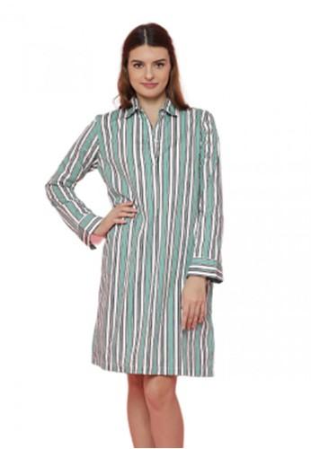 Gina Alana green Gina Alana Green Mint Lisa Long Sleeve Dress FE172AA3B24B75GS_1