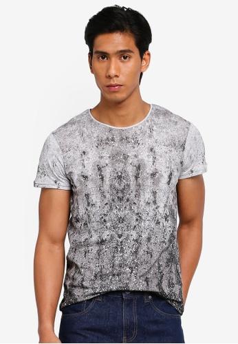 OVS 灰色 印花T-襯衫 6149BAADDC2871GS_1