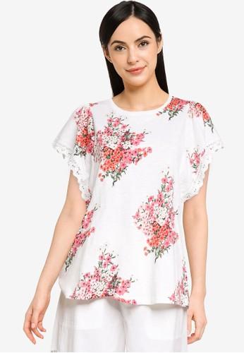 Desigual white Flounced Floral T-shirt 44E8FAADDE7538GS_1