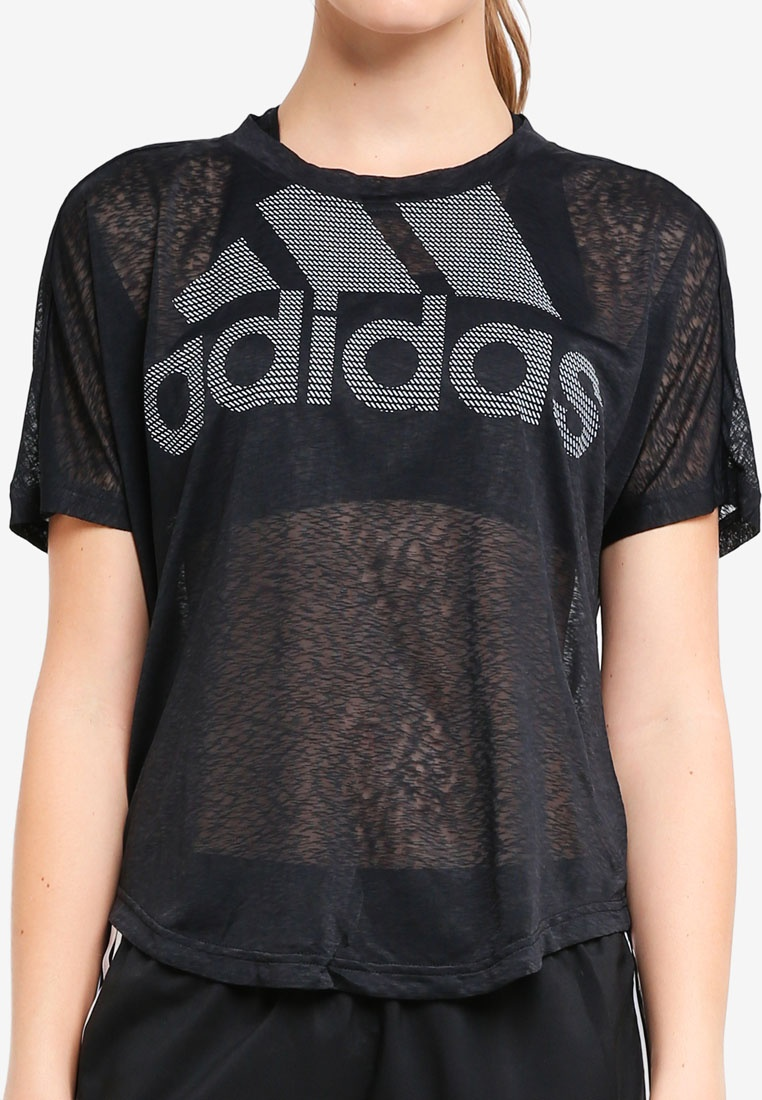 adidas Black tee magic logo adidas 8Irp8