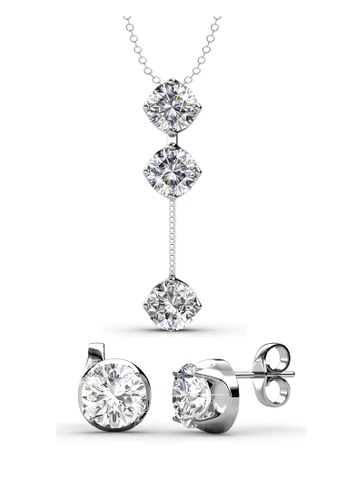 Her Jewellery silver Dazzling Set with Premium Grade Crystals from Austria B5AACAC0612C8CGS_1