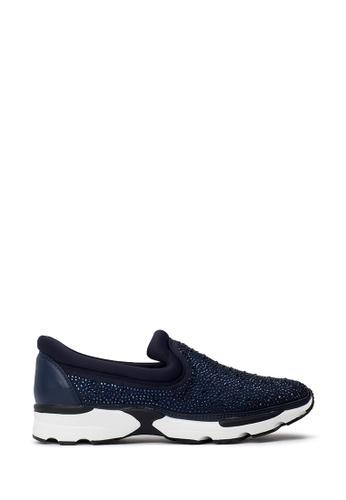 PAZZION blue Glitter Sneakers CF06CSH5811764GS_1