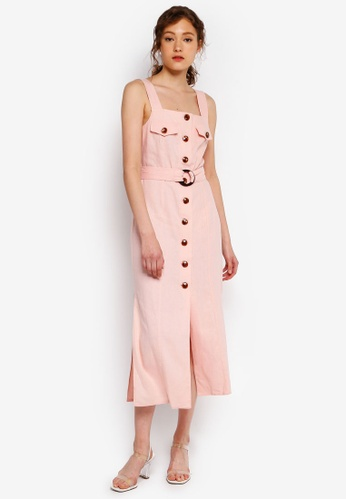 da239109b2d Miss Selfridge pink Nude Belted Utility Midi Dress 48E77AAFA6BA67GS 1