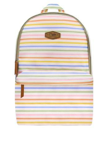 Ripples multi Colourful Stripes Digital Print Backpack 4ECC3ACEC30592GS_1