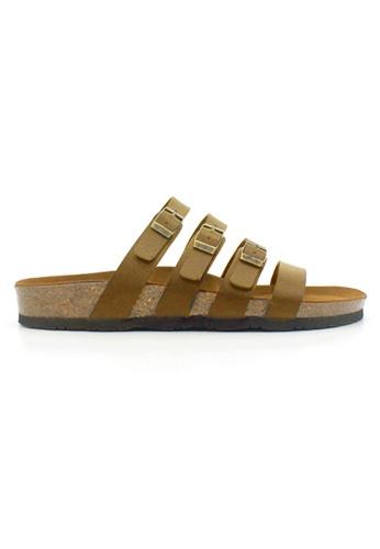 SoleSimple brown Kingston - Camel Leather Sandals & Flip Flops C3C98SH17BE8A2GS_1