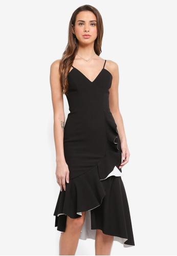 Bardot black Kiki Bonded Dress BA332AA0STATMY_1