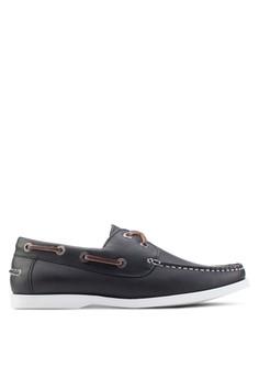 【ZALORA】 交叉繫帶仿皮船型鞋