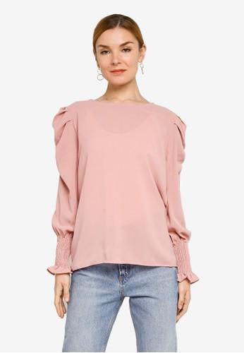 BYN pink Muslimah Long Sleeve Top 25C19AA7EC48DBGS_1