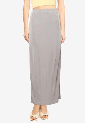 Cotton On grey Bowie Slinky Knit Maxi Tube Skirt CD90FAAC58275CGS_1