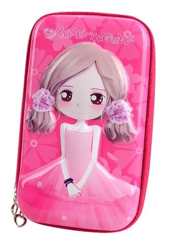 Yome pink YOME Pencil Case Flower Girl 93E9AKC3316FD6GS_1