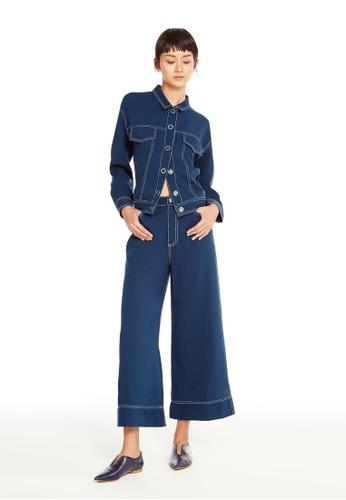 Pomelo navy Janina Wide Leg Pants 2DE4BAA52B3F7CGS_1