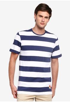 ac409dd2e6 Only & Sons blue Patterson Stripe T-Shirt CFB4FAA76DDC9CGS_1