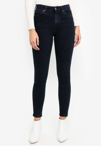TOPSHOP black and blue Blue Black Jamie Jeans 6907CAA6B310F9GS_1