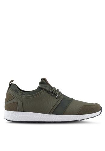 ZALORA green Mix Material Canvas Sneakers C4C28SH5496CC9GS_1