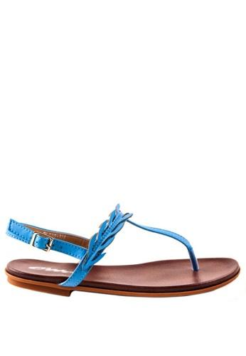 Otto blue T Bar Slide Sandals OT407SH0K8VYPH_1