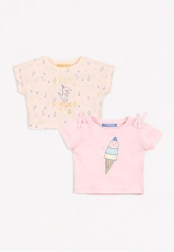 Gingersnaps multi Baby Girls Partysaurus Printed T-Shirt A0F48KA2DB2B04GS_1