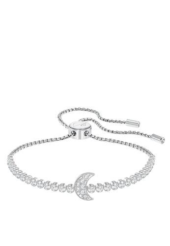 Swarovski Silver Subtle Moon Bracelet 97b0eacdb99f29gs 1