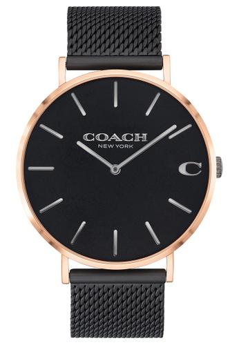 Coach black Coach Charles Black Men's Watch (14602470) 3AB2BACA8008F4GS_1