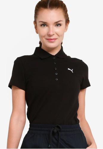 Puma black Essentials Women's Polo Shirt 7F7F9AAFB83C4CGS_1