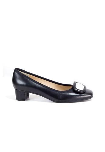 Shu Talk 黑色 柯德莉夏萍高雅復古方頭低跟鞋 1C40DSHE0202A2GS_1