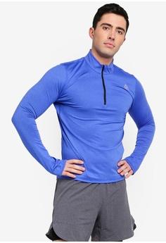 756ffe6a0f6d Reebok blue Running Core Run Essentials Quarter Zip Tee 0876CAACA0C268GS 1
