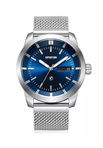 Expedition silver Expedition Jam Tangan Pria - Silver Light Blue - Stainless Steel - 6773 MEBSSLB 73007AC8CA07EFGS_1
