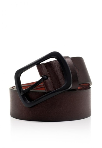 Attraxion Men's and Accessories brown Attraxion Jacob 163 Leather Belt AT259AC0JG8TPH_1