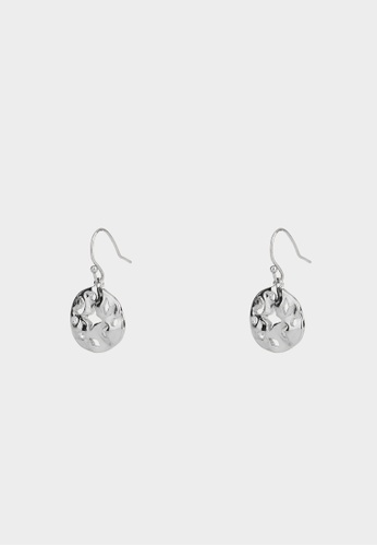 Pomelo silver Abstract Galaxy Cut Out Plate Earrings - Silver F10AFAC1FB8764GS_1
