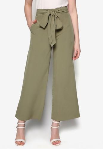 Love 寬管高腰長褲, 服飾, zalora 包包評價直腳褲