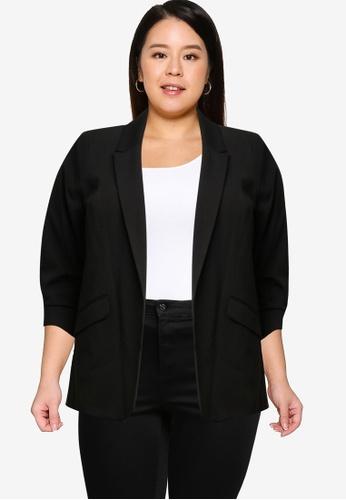 Dorothy Perkins black Plus Size Black Edge Jacket 307F4AA082E2F2GS_1