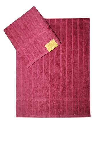 Cotton Fields pink Cotton Fields Hand Towel Stripes 57C55HLE378643GS_1
