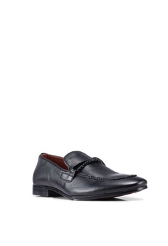 9ee38a2f505e Burton Menswear London Black Playfair Plaited Shoes RM 329.00. Available in  several sizes