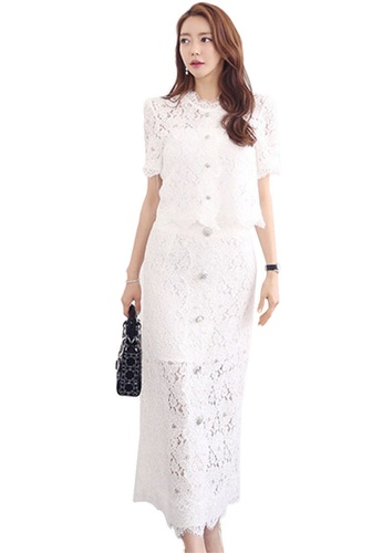 Sunnydaysweety white Lace Two Piece Dress CA052010W 4A88AAA26183A0GS_1