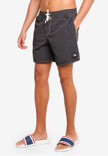 """Quiksilver grey Scallop 17 Swim Shorts"""" 31EAEAA6A5A0E7GS_1"""