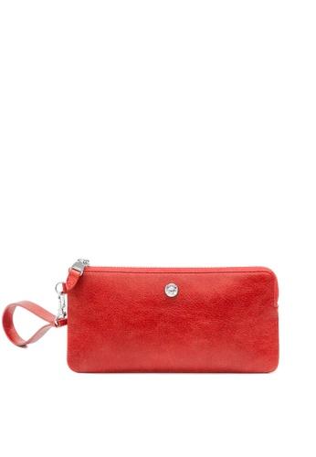 Enjoybag red Alice Leather Zip Wristlet EN763AC2VPC8HK_1