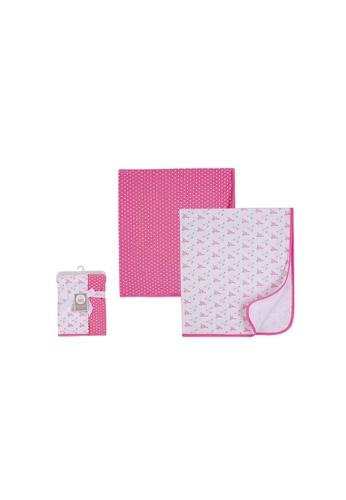 Little Kooma pink Baby Interlock Swaddle Blankets 2pc 51438 - 0821 C7F94KC0F6AD6DGS_1