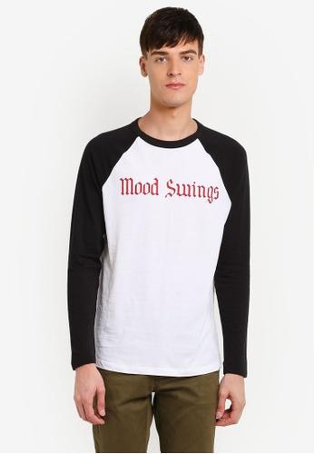 MANGO Man white Raglan Sleeve T-Shirt MA449AA0RVZIMY_1