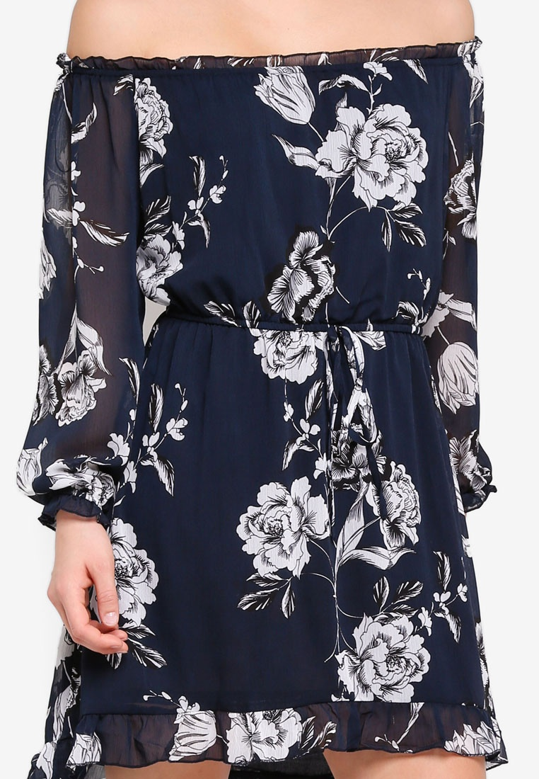 Off Ash Lorne Cotton Floral Shoulder On Moonlight Dress Woven The pa5w70df0q