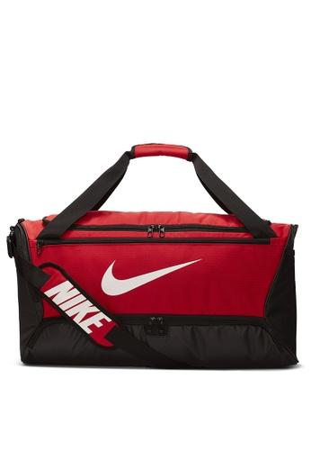 Nike red Brasilia Medium Duffle Bag 897B5ACD27F41AGS_1