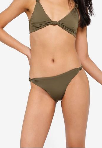 TOPSHOP brown Knot Side Bikini Bottoms 4CEF5US170E7EBGS_1