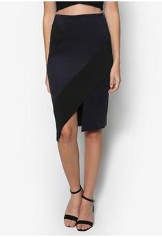 Collection Asymmetry Colour Blocked Skirt