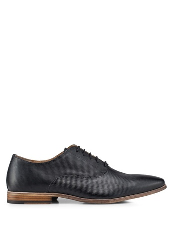 Topman black Black Delta Oxford Shoes FCB77SH9633415GS_1