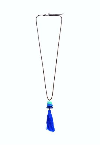 JOGLO AYU TENAN blue JOGLO AYU TENAN Blue Donuts Clay Necklace 384E5ACD8A4909GS_1