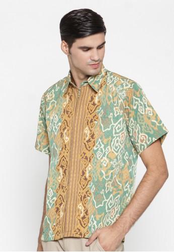 Waskito Hem Batik Semi Sutera - HB 10575 - Green